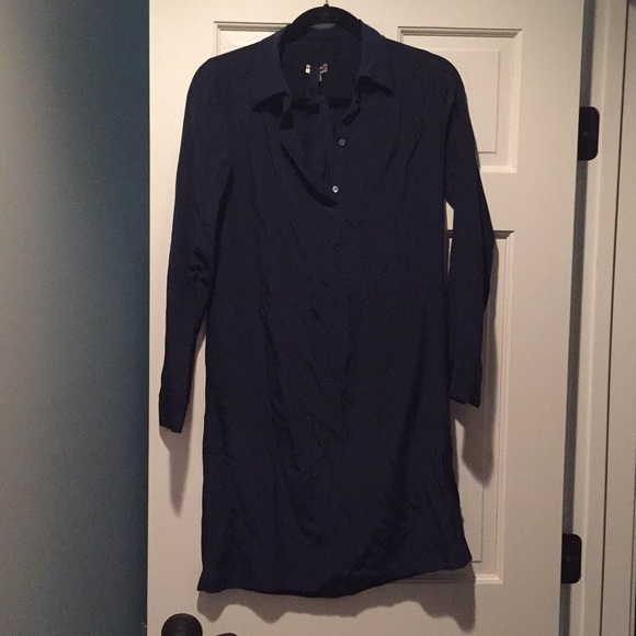 06b03e1b2e95a Cuyana Dresses   Skirts - Cuyana silk shirt dress